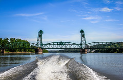 Florence-Bridge-by-boat (EXORIMADreamer) Tags: illinois river florence bridge lift