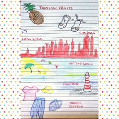 Doodle August Challenge - week 3  #31daysoftraveldoodles by @qualcosadierre and @bujostudy #doodlechallenge #doodles #tropicalfruit #sandals #newyork #atthebeach #lighthouse #traveloutfit (PhoebeZu) Tags: lighthouse doodlechallenge doodles atthebeach 31daysoftraveldoodles tropicalfruit newyork traveloutfit sandals