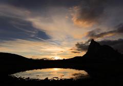 Self reflection (Robyn Hooz) Tags: reflections sky earth ground sunset tramonto gusela giau pozza filtro polarizzatore dolomiti nuvola clouds beauty