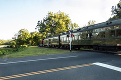 Tylerville crossing (hickamorehackamore) Tags: 2016 ct ctriver connecticut connecticutriver connecticutvalleyrailroad essexsteamtrain haddam tylerville crossing excursiontrain summer
