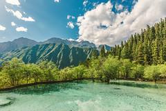 Huanglong_1 (hans-johnson) Tags: ngawa huanglong sichuan tibetan qiang chine nature china green blue sky canon eos 5d 5diii 5d3 vsco vscofilm reflection mountain mount water lake