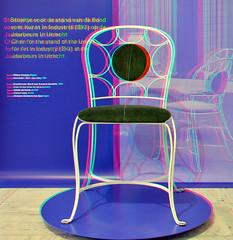 GISPEN BKI stoel Boijmans Rotterdam 3D (wim hoppenbrouwers) Tags: gispen bki stoel boijmans rotterdam 3d bkistoel boijmansrotterdam anaglyph stereo redcyan chair