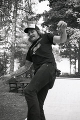 Sweden Style Skateboarding II (Magnus Bergstrm) Tags: canonae1 canon ae1 analog bw blackwhite blackandwhite kodak kodaktmax100 kodaktmax tmy 100tmx sweden sverige ramp skateboard skating grums hembygdsgrd vrmland