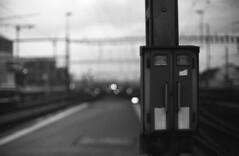 ___b__l__u__r__y___ (Cem Bayir) Tags: film analouge filmisnotdead filmisbetter filmgrain grainisgood grainy pushed ilford iso1600 hp5 400 ddx selfdevelopment bokeh bokehful bokehgraph dof pov night lowlight zh zrich city trainstation mainstation moody lights blury view monochrome bnw blacknwhite noiretblanc bnwfilm minolta 50mmf14 rokkor