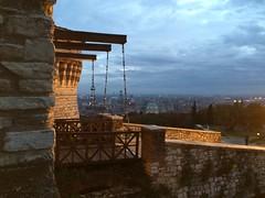 Brescia Castle Gate (biloxi_blues) Tags: overlook brescia iphone gate castle drawbridge italy