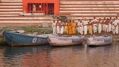 VaranasiSunrise073 (tjabeljan) Tags: india benares varanasi ghat ganges hindu cremation bath bathing pelgrim