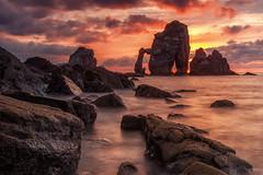 San Juan de Gaztelugatze (Alfredo.Ruiz) Tags: bakio bizkaia clouds coast heat landscape nature ocean offshore red rock sanjuandegaztelugatze sea sky summer sun sunset undercurrent warm
