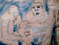 We Still Have Our Stories (giveawayboy) Tags: pencil crayon drawing sketch art acrylic paint painting fch tampa artist giveawayboy billrogers sasquatch bigfoot story stories