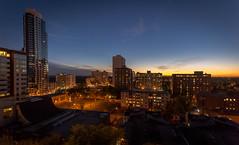 Oliver area, Edmonton, Alberta, Canada (Judith A. Gale Photography) Tags: edmonton alberta canada night photography sundown city lights beautiful love art gorgeous thepearl