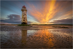 Talacre Lighthouse in golden hour (michael-little) Tags: lighthouse golden hour long exposure