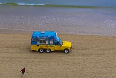 Ice Cream Van (Meander Khedekar) Tags: water sea seaside sand blue van ice cream d600