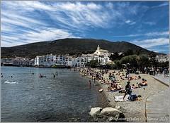 Cadaqus II  (Costa Brava - Catalunya). (Antoni Gallart i Vilarrasa) Tags: lumix costa brava catalonia catalunya catalua cadaqus mar sea cost cilo sky cel nvols nubes clouds platja playa beach agua aiga water