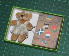 Valise  gniou-gnious (Polly's Lady) Tags: paper papier carterie amiti friendship ours nounours teddy crafts