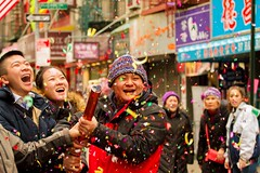 Chinese New Years Eve (shanaaja) Tags: newyork chinatown party happiness people group asian confetti silvester glcklich menschen gruppe konfetti