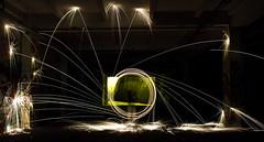 LIGHTPAINTING 5 (pj lens) Tags: 550d canon lightpainting 2014 texture abstrait rond motif cercle organique fond noir surraliste bordure photo calme minimalisme