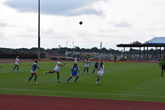 Wide Angle Action- Woman's LU Soccer Game on 9-17-2016 (MelanieSaundersArt) Tags: wide angle action telephoto picture macro focal length womans soccer flowers tree acorn statue two pumpkins scarecrow