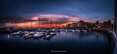 Gijon puerto deportivo (Daniel Pastor 70) Tags: puerto puertodeportivo espaa asturias gijon azul atardecer panoramica sunset port portsport sea panorama