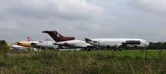 Boeing, Boeing..... (crusader752) Tags: boeing 727 737 757 b727 b737 b757 kemble scrap scrapping scrapyard recycling cotswoldairport withdrawn wfu mftoh gceld gdajb