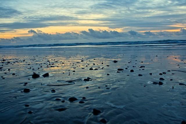 Sunset Clouds on Oceanside Beach