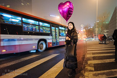 Waiting to cross (Russ Beinder) Tags: china street woman night cn candid beijing