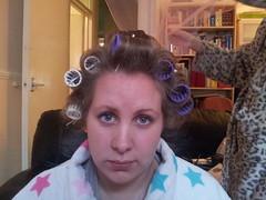 Laurens hair in Curlers Dec 2012 (Carol B London) Tags: anna lauren hair curls practice hairstyle practical curlers collegework