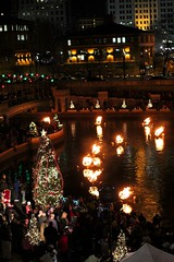 Christmas in the WaterPlace Basin.