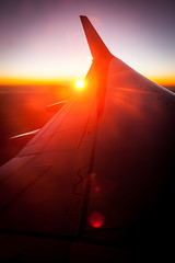 Sunrise (Victor van Dijk (Thanks for 4M views!)) Tags: favorite sunrise canon wing fave lensflare flare boeing flair transavia faved 737800 faorite victormk1 wwwvictorvandijkcom