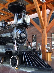 Engine 374 at Roundhouse Community Centre, Vancouver (wessexman...(Mike)) Tags: vancouver train yaletown railways roundhouse engine374