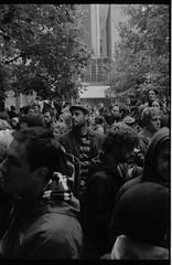 007-012 (Ari and the bear) Tags: street bw film analog montreal canona1 kentmere400 occuponsmontreal occupymontreal arianedepalacio