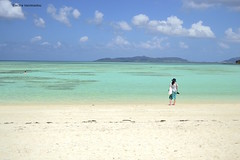 Endless blue (Electra K. Vasileiadou) Tags: travel blue sea sky colour tourism beach nature water japan island sand nikon pacific  okinawa           greekphotographers   d3100 gettyimagesjapan12q4  japan
