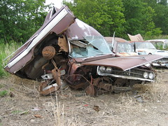 French Lake Auto Parts 2009 (Bempa15) Tags: old usa lake ford chevrolet minnesota yard french rust plymouth cadillac dodge rusting pontiac chrysler deville oldcars mn desoto oldsmobile packard lark caprice salvageyard autoparts junktown junkoldcar