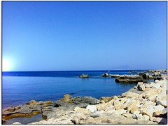 Blue Mediterranean (Usc) Tags: friends light sea sky italy panorama holiday seascape nature colors skyline landscape photo europe mare perspective sicily jesi favignana eugenio iphone4 staffolo coppari mygearandme usc rememberthatmomentlevel1 rememberthatmomentlevel2 rememberthatmomentlevel3