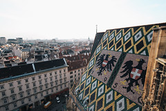 Roof of St. Stephen's Cathedral. (Crusade.) Tags: vienna wien city urban church canon landscape austria shift 17 t