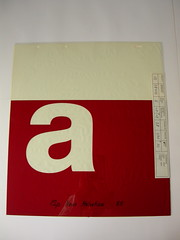 12 pt Neue Helvetica 85 a rubylith frisket (Indra Kupferschmid) Tags: helvetica frisket linotype stempel badhomburg phototype rubylith helveticaforever type:face=helvetica