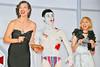 (L-R) Milla Jovovich, comedian Yoshio Kojima and singer Mika Nakashima,