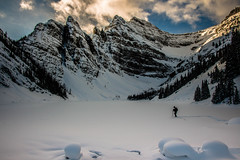 Solitude (cec403) Tags: trees winter snow canada mountains forest snowshoe rockies alberta lakelouise lakeagnes banffnationalpark canont4i