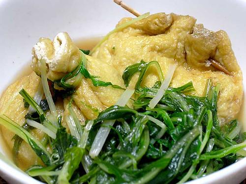 水菜ときんちゃくの炊きもの