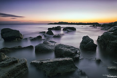Sunrise At Whitburn (Dave Brightwell) Tags: longexposure seascape beach sunrise canon rocks le hitech redsnapper sunderland whitburn bwnd davebrightwell