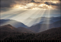Crepuscular Light Rays on Blue Ridge Parkway - Rays and Ridges (Dave Allen Photography) Tags: blue light nature contrast landscape outdoors nc intense nikon tn northcarolina ridge parkway layers rays peaks dramaticsky smokies beams sunbeams ridges daveallen lightrays crepuscular valleys greatsmokymountains d700 nikond700 mygearandme mygearandmepremium mygearandmebronze mygearandmesilver mygearandmegold mygearandmeplatinum mygearandmediamond crepuscularlightrays