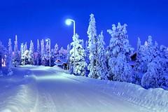 Ruka (timo_w2s) Tags: winter snow finland lapland kuusamo bluehour hdr ruka mastorinteentie