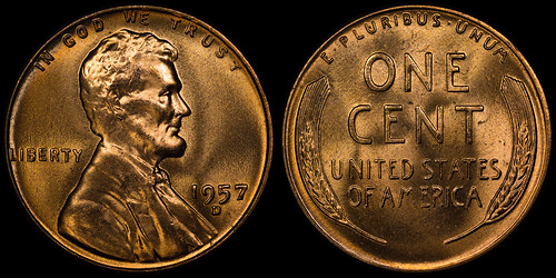 1957-D Lincoln Wheat Cent RPM