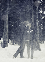 Janae and I (Ian Fidino!) Tags: winter snow cold photo nikon kissing flake 2012 d800 ianfidinophoto wrxdrivejanae2012photofun