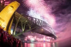 Sydney New Year 2013 (Luke Tscharke) Tags: show eve longexposure bridge night clouds reflections spectacular geotagged purple bright fireworks sydney trails australia newyear fisheye celebration lunapark spectators 2012 sydneyoperahouse sydneyharbourbridge 2013 5d3 5dmarkiii geo:lat=33849971116298924 geo:lon=15121139466762543 brightmpurple