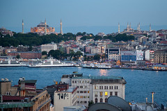 7 Up (YetAnotherLisa) Tags: turkey view dusk istanbul bluemosque hagiasophia goldenhorn