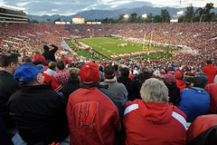 The mood among University of Wisconsin-Madison Badger started to dampened at the start of the fourth quarter of the 2013 Rose Bowl football game between the University of Wisconsin-Madison Badgers and the Stanford University Cardinal at the Rose Bowl Stad