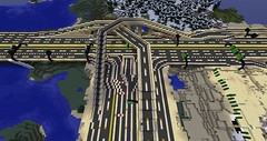 scrap104's Minecraft Highway: M104-M304 Interchange (scrap104) Tags: road highway onramp mc freeway interstate roads offramp hov scrap104 minecraft