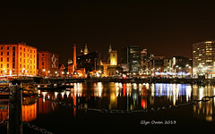 Albert Dock - Liverpool 12/01/13 (Glyn Owen Image-Art) Tags: city longexposure liverpool reflections slowshutter brightlights fab4 atnight barges