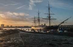 The sun setting on HMS Warrior in Portsmouth Harbour.... (Charles Smallman) Tags: isleofwight warship portsmouthharbour hmswarrior navaldockyard buoyant nikond800 nikonflickraward charlessmallman