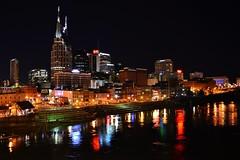 Nashville at Night (tgreen8091) Tags: music west building river university tn nashville bell tennessee live south broadway vanderbilt batman end avenue tonk cumberland att honky bellsouth vandy