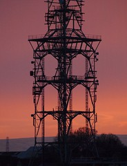 Sunrise over Communications Pylon - Harraby Carlisle (Gilli8888) Tags: sky colour silhouette sunrise dawn pylon cumbria mast carlisle communicationsmast harraby